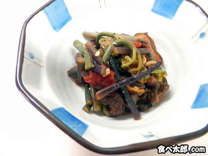 わらびの即席キムチ・レシピ