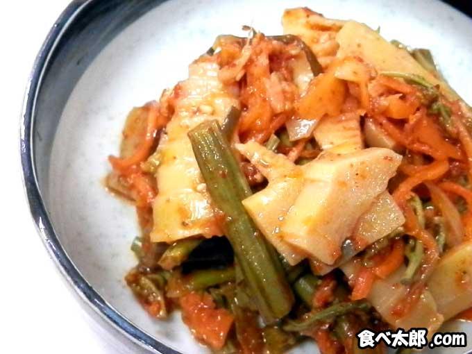 わらびと筍のキムチ・レシピ