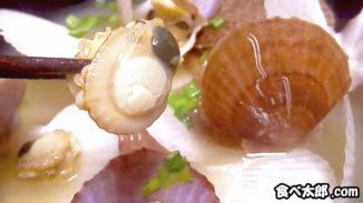 帆立稚貝の味噌汁とウロ