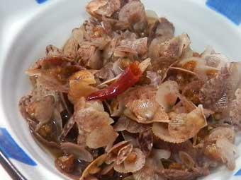 赤ちゃん稚貝で作った酒肴