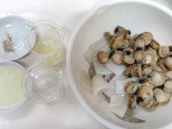 帆立稚貝(ベビーホタテ)八宝菜に使う魚介類
