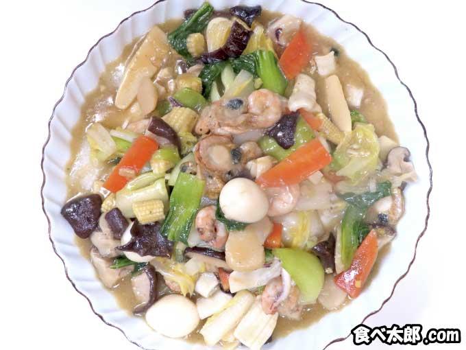 帆立稚貝(ベビーホタテ)の海鮮八宝菜