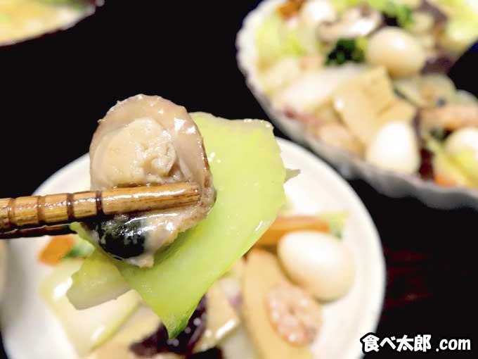 帆立稚貝(ベビーホタテ)の海鮮八宝菜の帆立稚貝