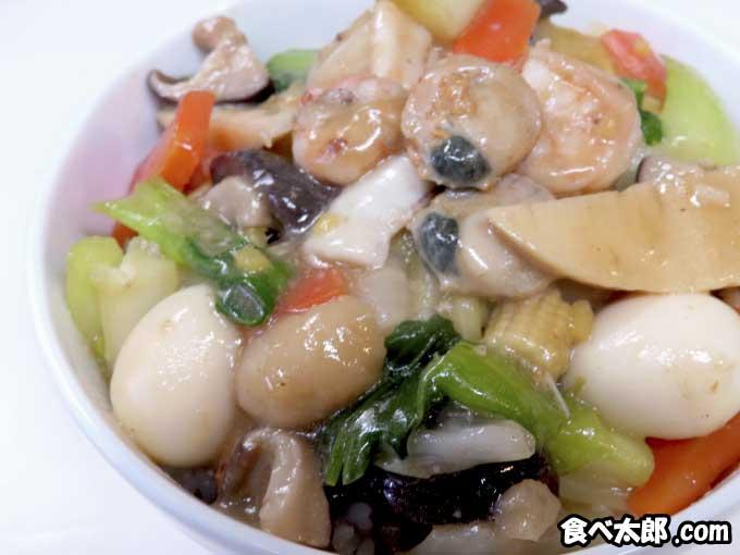 帆立稚貝(ベビーホタテ)の海鮮中華丼