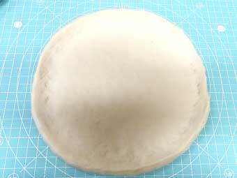 21cmサイズに作ったピザ生地