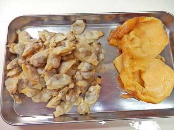 ホヤとアサリの生姜炊き込みご飯の材料