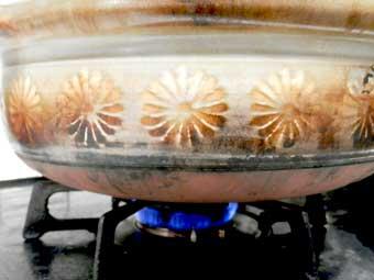 土鍋炊きご飯の火加減15分弱火