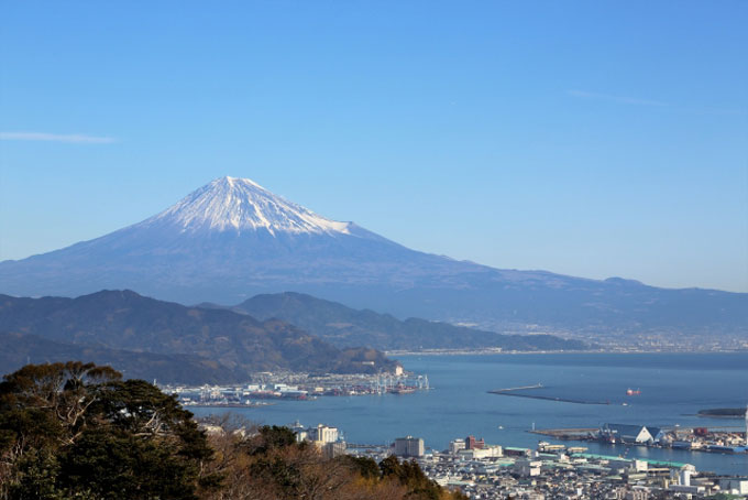 富士山と清水港