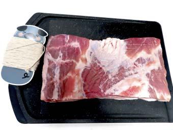 豚バラブロックと料理用タコ糸
