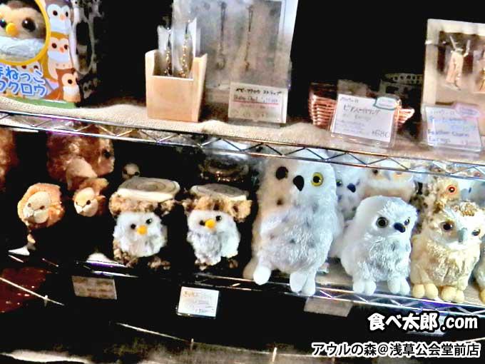 アウルの森@浅草公会堂前店の物販コーナー