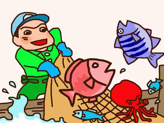 漁のイラスト