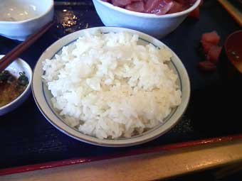 「白飯 大盛り」150円@魚市場食堂