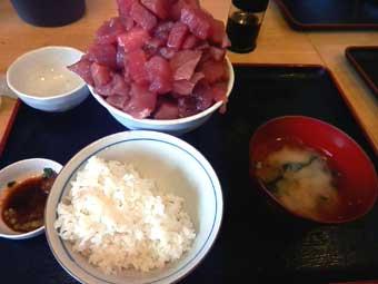 まぐろいっぱい丼の食べ方④
