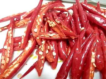 赤柚子胡椒に使う赤唐辛子
