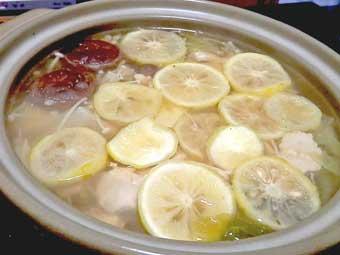 柚子胡椒作りで余った柚子で柚子鍋